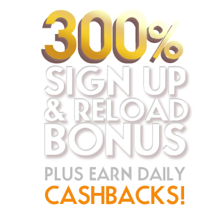 300% Bonus on your first deposit and reloads up to $3,000!